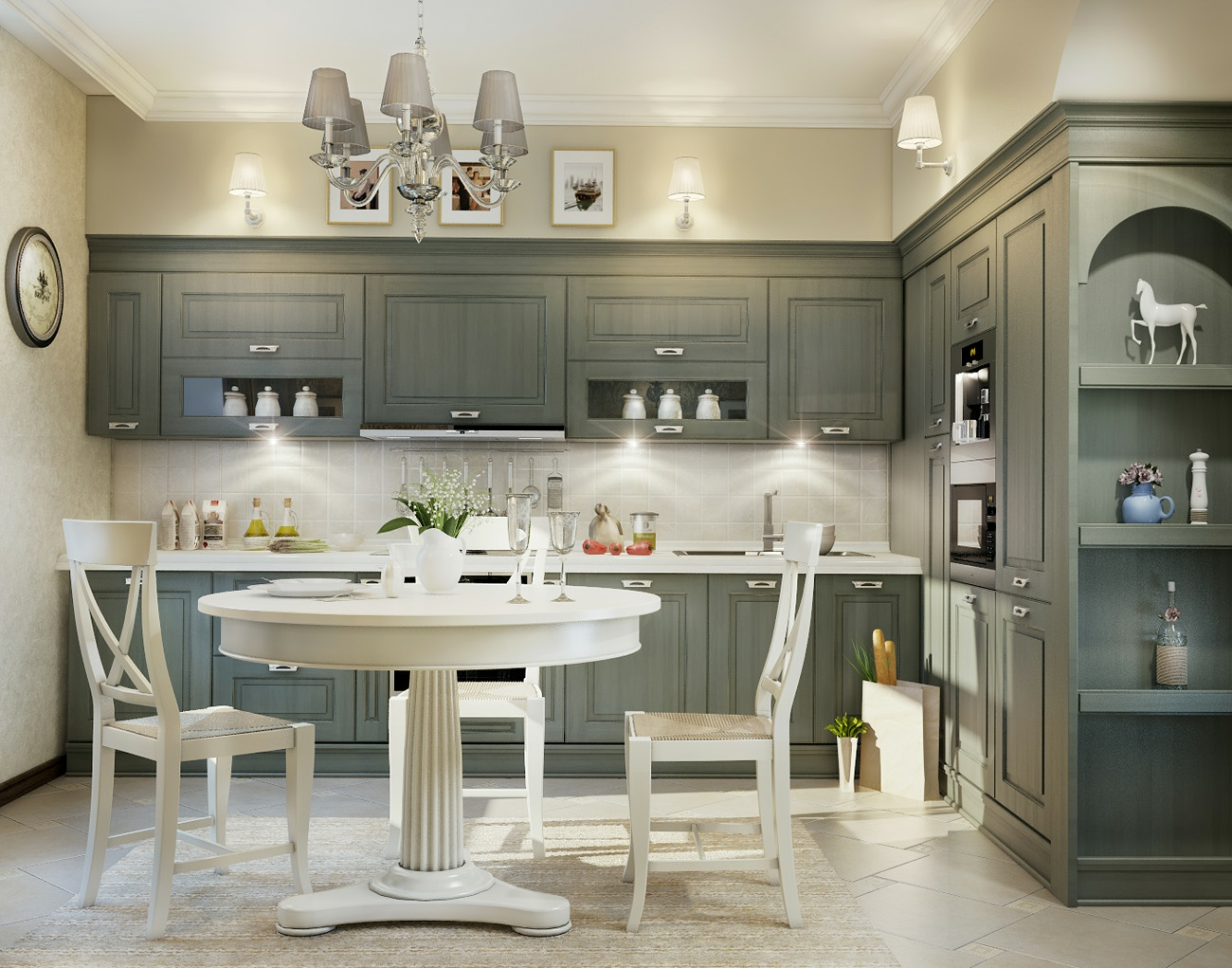 Kitchen Design In The Style Of A Modern Classic Kitchen Design In A Classic Style 17 Photos Beautiful Projects